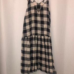 Black and white gingham tank dress